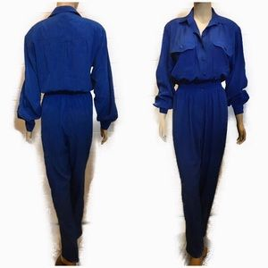 Vintage Royal Blue Jumpsuit